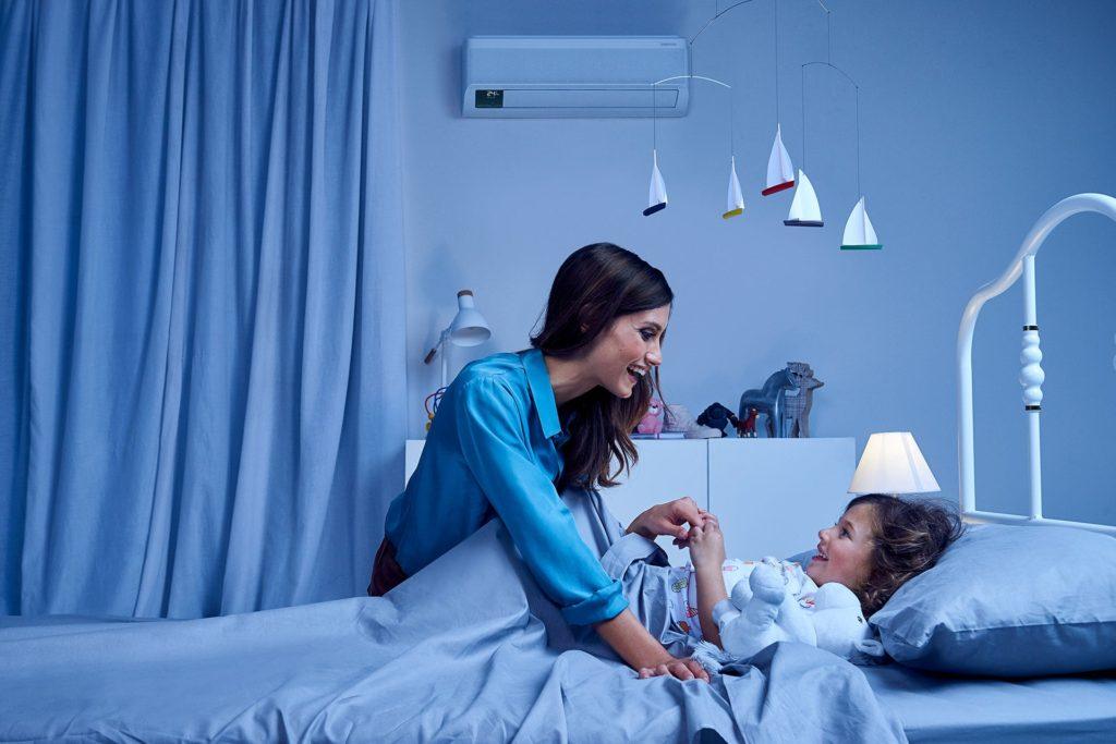 Klimatizace Samsung v ložnici nebo dětském pokoji
